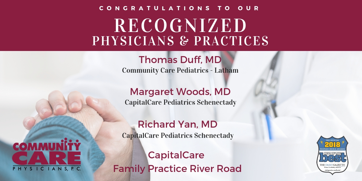 Congratulations to the Physicians and Practices recognized as Best of the Best by The Daily Gazette