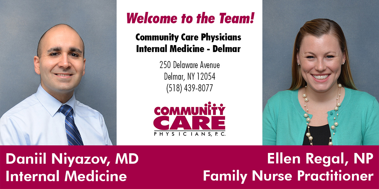 Community Care Physicians Internal Medicine - Delmar Welcomes Two New Providers
