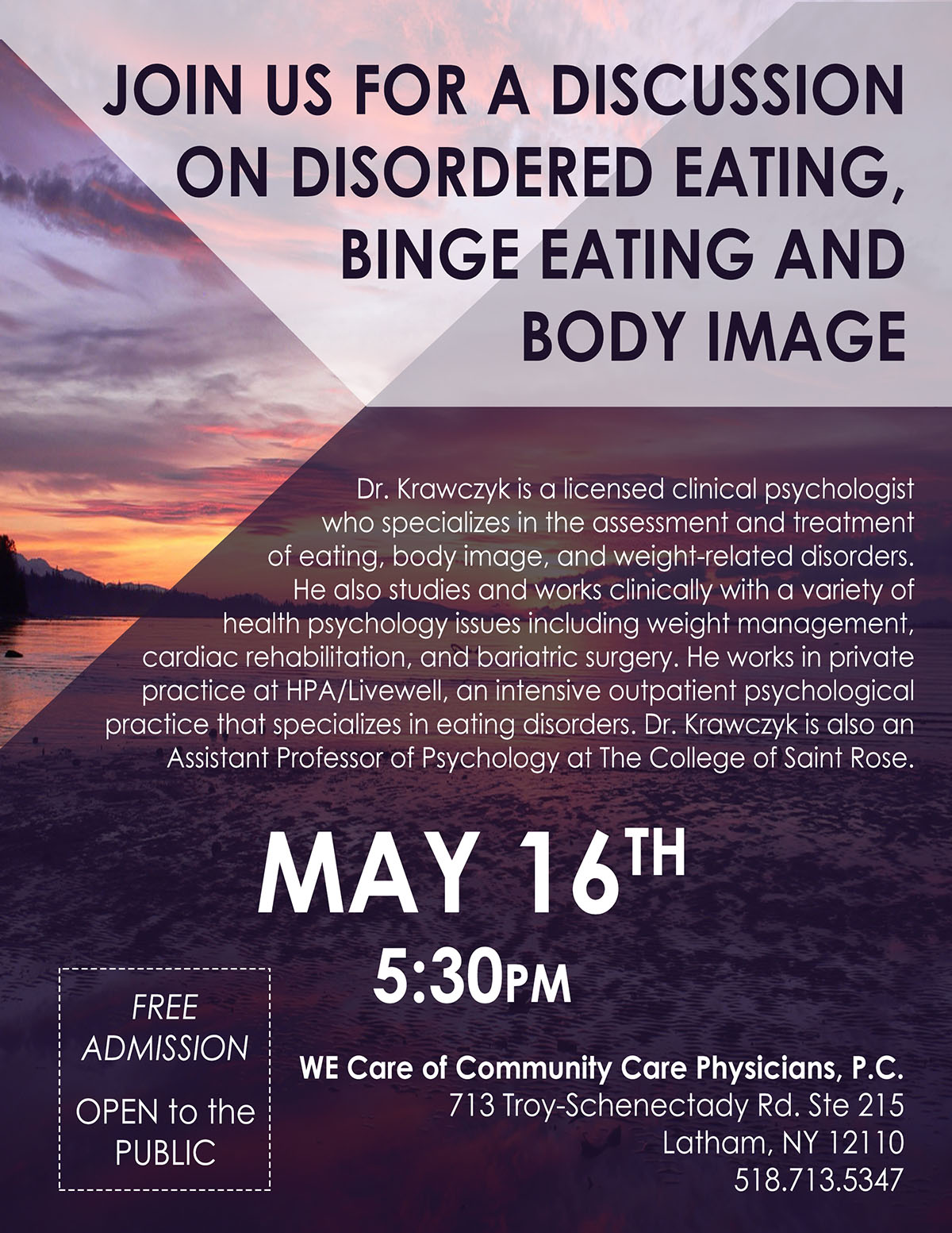 Disordered Eating, Binge Eating, and Body Image